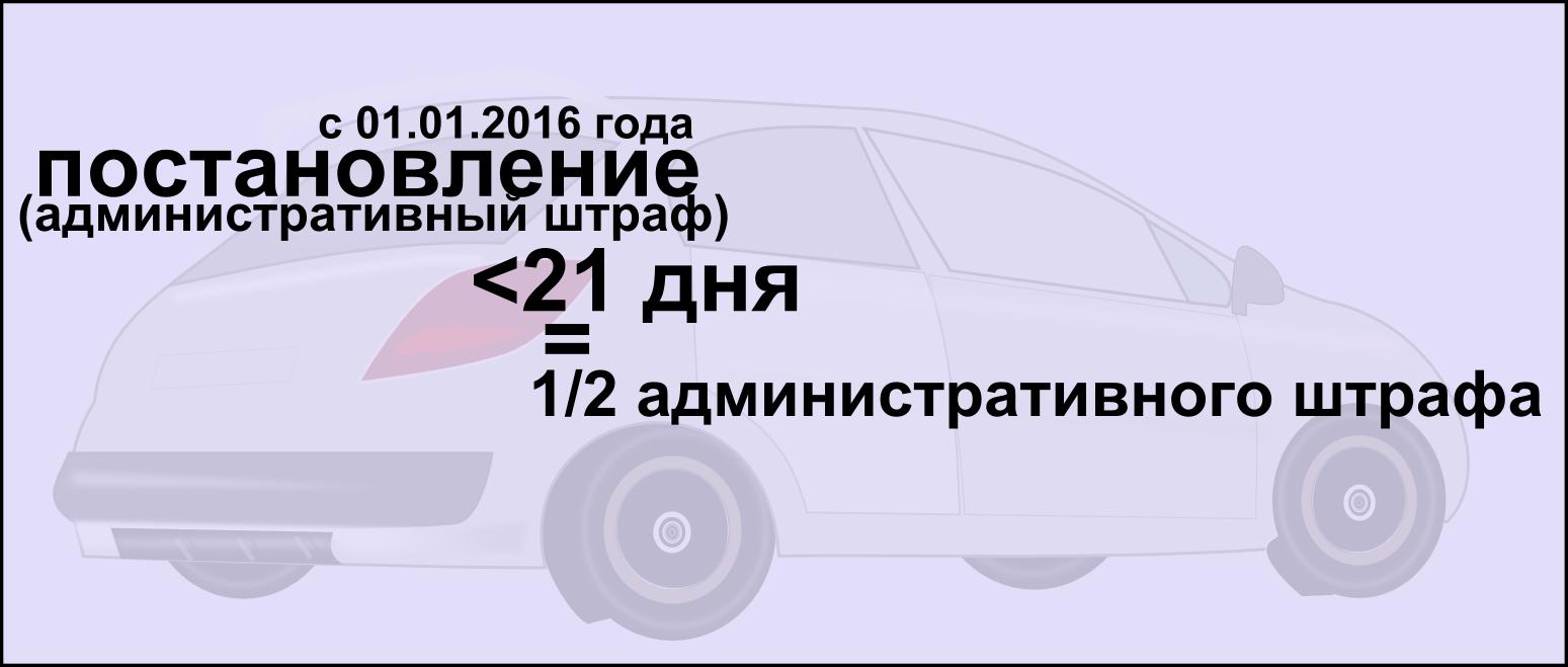 Уменьшение административного штрафа с 01.01.2016 года